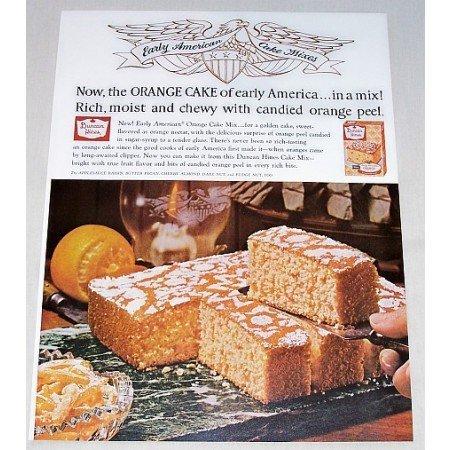 1962 Duncan Hines Orange Cake Mix Color Print Ad