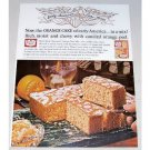 1962 Duncan Hines Orange Cake Mix Color Print Ad