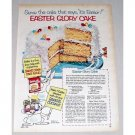 1953 Swans Down Cake Mix & Bakers Coconut Color Print Ad