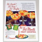 1938 Del Monte Fruit Cocktail Color Print Ad - It's Thrifty
