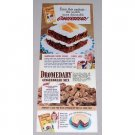 1942 Dromedary Gingerbread Mix Gingies Recipe Color Print Ad