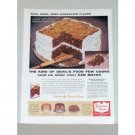 1957 Duncan Hines Devil's Food Cake Mix Color Print Ad