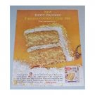 1960 Betty Crocker Toasted Coconut Country Cake Color Print Ad