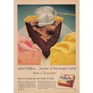 1958 Jello Chiffon Pie Filling Color Print Ad - Now Chocolate