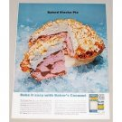 1962 Baker's Coconut Baked Alaska Pie Recipe Color Print Ad
