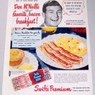 1950 Swift's Premium Bacon Color Print Ad Celebrity Don McNeill