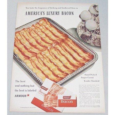 1948 Armour Star Bacon Color Ad - America's Luxury Bacon