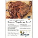 1959 Kroger Tenderay Brand Beef Color Print Ad