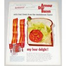 1960 Armour Star Bacon Color Print Ad - Any Hour Delight