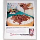 1955 Chef Boy-Ar-Dee Meat Balls with Gravy Color Print Ad
