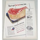 1949 Swift Premium Meats Rib Roast Color Print Ad