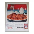 1955 Chef Boy-Ar-Dee Spaghetti Meat Balls Color Print Ad
