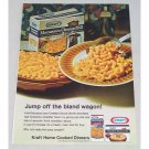1968 Kraft Macaroni & Cheese Deluxe Dinner Color Print Ad