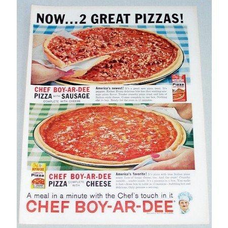 1962 Chef-Boy-Ar-Dee Pizza Color Print Ad