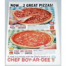 1962 Chef-Boy-Ar-Dee Pizza Color Print Ad
