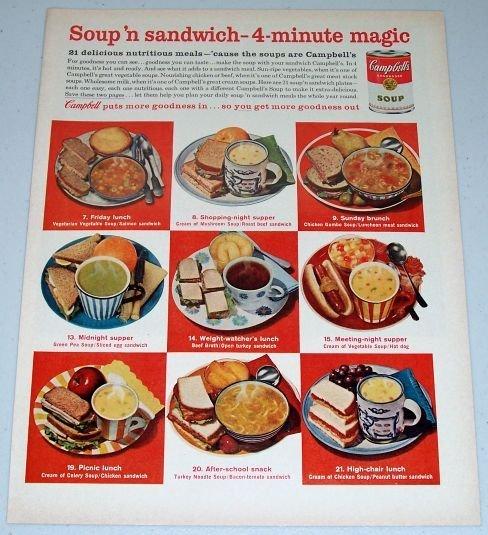 1962 Campbell's Soup Color Print Ad - 4 Minute Magic