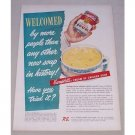 1950 Campbell's Cream of Chicken Soup Color Print Ad