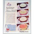 1939 Campbell's Tomato Soup Color Print Ad - More Milk