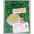 1948 Campbell's Green Pea Soup Color Print Ad