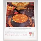 1963 Campbell's Vegetable Beef Soup Color Print Ad - Beef Up