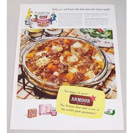 1953 Armour Beef Stew Color Print Ad - Only You Will Know