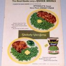 1955 Stokely's Finest Sweet Peas Color Food Print Ad