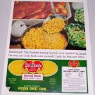 1960 Del Monte Golden Sweet Corn Color Print Ad