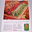 1957 Del Monte Green Beans Color Print Ad