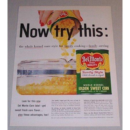 1957 Del Monte Golden Sweet Corn Color Print Ad