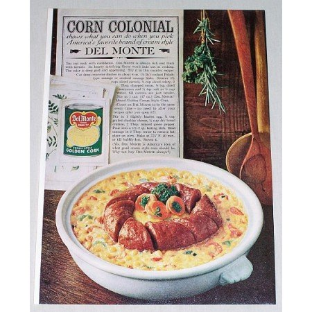1961 Del Monte Cream Style Corn Color Print Ad - Corn Colonial