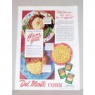 1945 Del Monte Corn Color Print Ad - Flavor First
