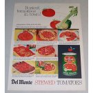 1958 Del Monte Stewed Tomatoes Color Print Ad - Busiest Tomato