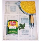 1962 Del Monte Golden Sweet Corn Color Print Ad