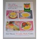 1958 Del Monte Golden Sweet Corn Color Print Ad