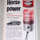1953 Veedol Motor Oil Vintage Color Print Ad - Seal In Horsepower