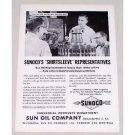 1955 Sunoco Sun Oil Co Vintage Print Ad - Shirtsleeve Representative