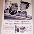 1954 Ethyl Corp. Gas Oil Art Vintage Print Ad