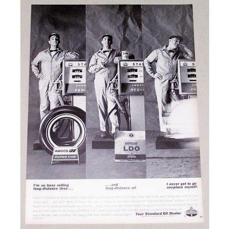 1964 Standard Oil Dealer Gas Tires Pumps Vintage Print Ad