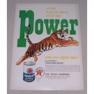 1949 Texaco Havoline Motor Oil Tiger Art Vintage Color Print Ad