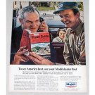 1965 Mobil Dealer Mobil Travel Guide Vintage Color Print Ad