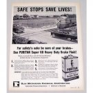 1957 Puritan Super 60 Brake Fluid Railroad Train Cross Vintage Print Ad