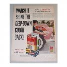 1955 Johnson's Deep Gloss Carnu Car Wax Vintage Color Print Ad