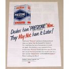 1949 Prestone Anti-Freeze Vintage Color Print Ad