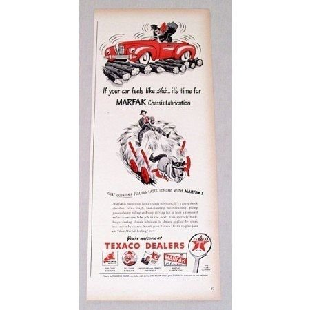 1946 Texaco Dealers Chassis Lubrication Vintage Color Print Art Ad