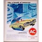 1962 AC Filter Pontiac Monte Carlo Convertible Vintage Color Print Ad
