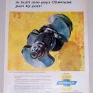 1958 Chevrolet Genuine Parts Crankshaft Lidor Art Vintage Color Print Ad