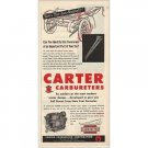 1955 Carter Carburetors Service Vintage Print Ad