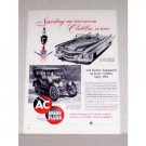 1953 AC Spark Plugs 1914 and 1953 Cadillac Autos Vintage Print Ad