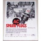 1944 AC Spark Plugs Wholesale Meat Truck Vintage Print Ad