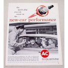 1961 AC Spark Plugs Vintage Print Ad - New Car Performance